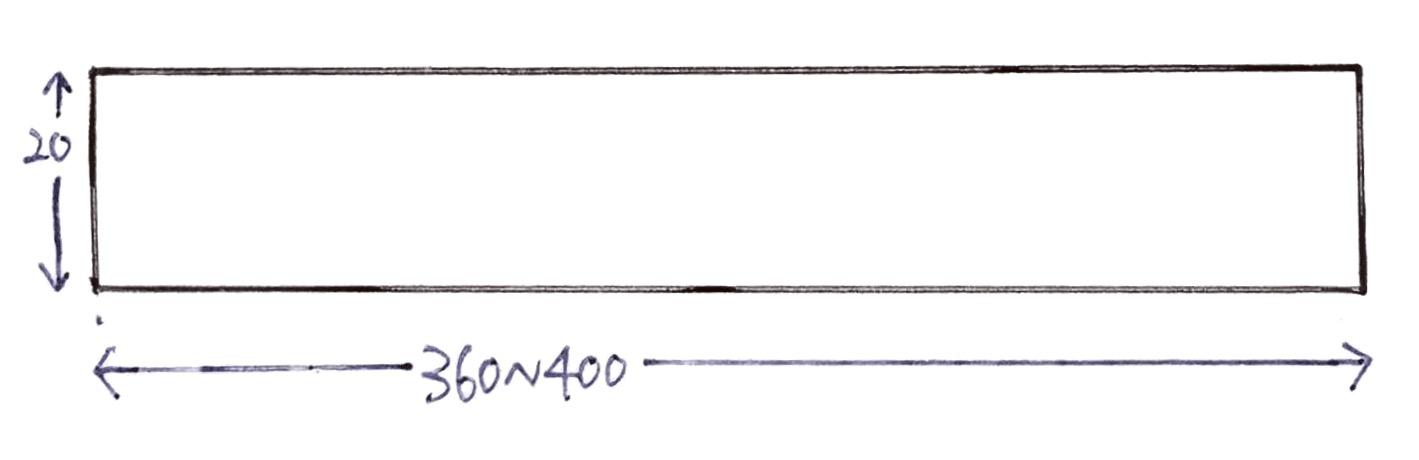 半幅帯サイズ図