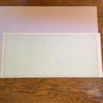 半幅帯の型紙作り
